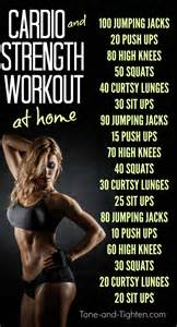 at home cardio workouts cardio and strength workout tone and tighten