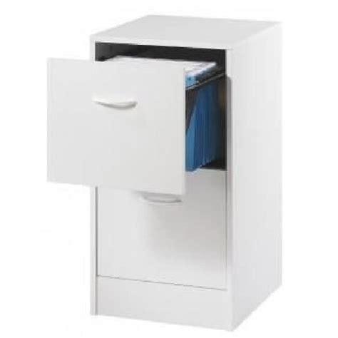 classeur 2 tiroirs pour dossiers suspendus 41 4 cm blanc