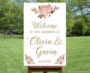 Bridal Shower Welcome Sign Template by Printable Large Wedding Welcome Sign Personalized Wedding