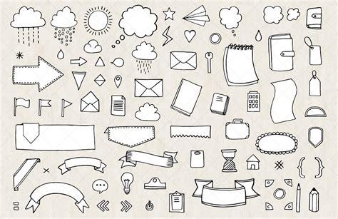 bullet journal  diary planner vector doodles mels brushes