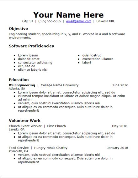 Resume Template No Education by Free Resume Templates Hirepowers Net