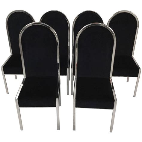 Dining Chairs Italian Design Set Of Six Italian Design Dining Chairs For Sale At 1stdibs
