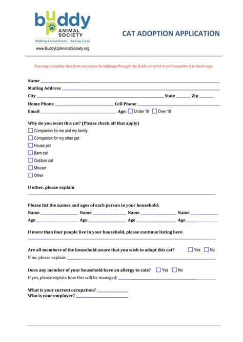 100 adoption application template adoption form