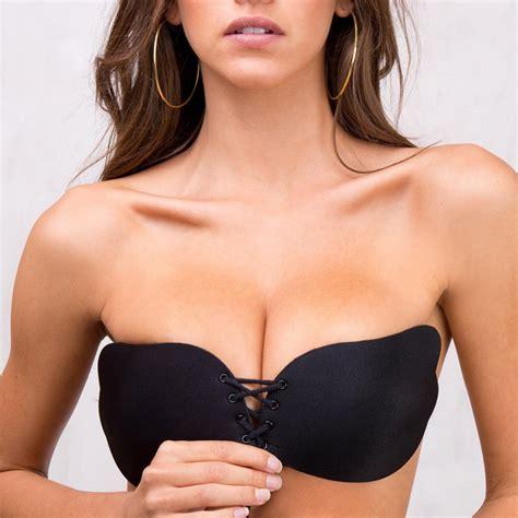 Push Up Bra Multifungsi Bra Tarik invisible push up bra front closure self adhesive silicone seamless bra for wedding