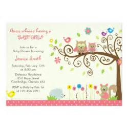 picture invitations for baby shower owl baby shower invitations