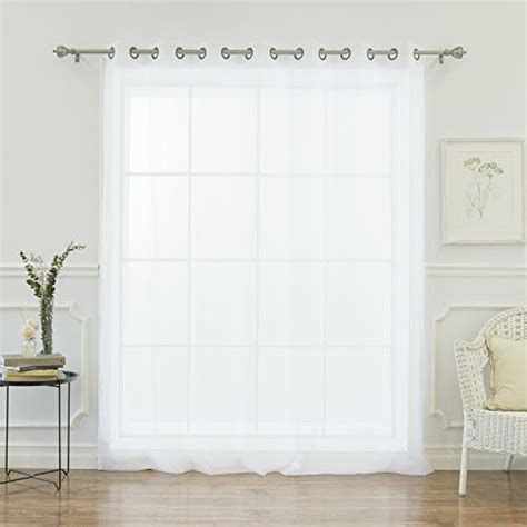 wide width sheer curtains save 3 best home fashion wide width crushed voile