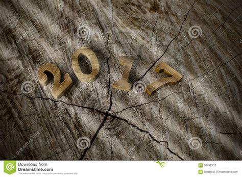 new year wood happy new year 2017 wood number idea stock image image