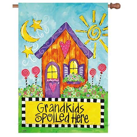 garden flags decorative flags house mini yard flags grandkids spoiled here decorative house flag
