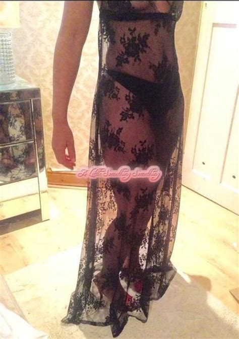Sheer Lace Nightdress sheer nightgown see through nightie black lace baby doll