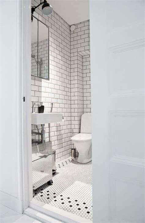 bathroom white brick tiles 1930 s tile hex pattern home elements pinterest