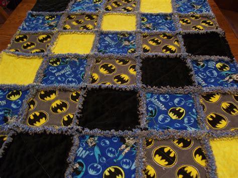 Batman Quilts by Baby Rag Quilt Made From Batman Fabric Rag Quilt Batman Rag