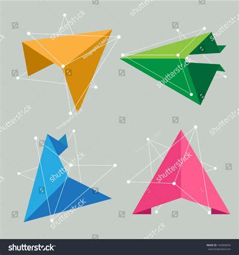 vector origami triangle arrow creative idea concept