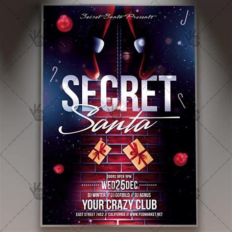 Secret Santa Christmas Flyer Psd Template Psdmarket Secret Santa Flyer Templates