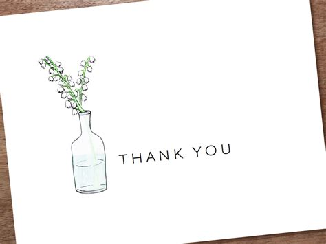 Thank You Card Template by Printable Thank You Card Template Instant By Empapers