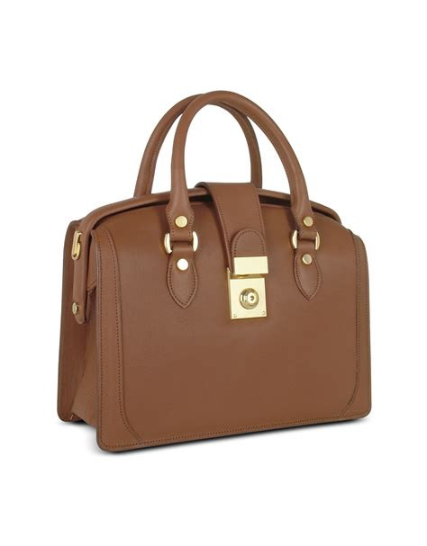 Doctor Bag lyst l a p a brown italian leather doctor bag in brown