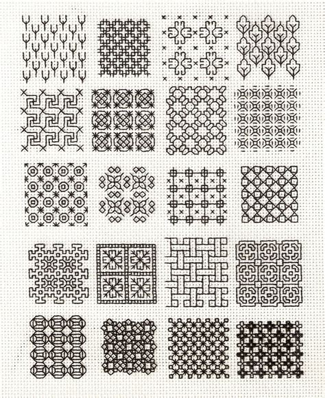 Blackwork Pattern | blackwork backstitch