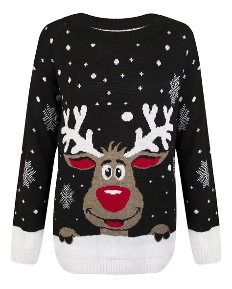 knitting pattern christmas jumper reindeer womens knitted christmas novelty santa reindeer penguin