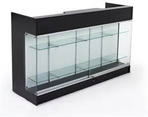 Black Display Cabinet With Drawers Wrap Drawer Shelves And Store Counter On