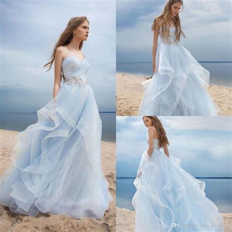 a blue wedding dress unique light blue wedding dresses aximedia
