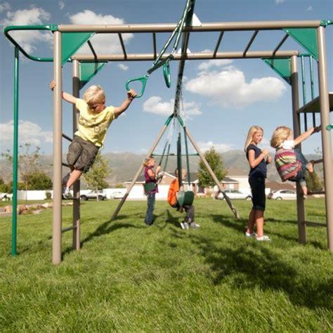 lifetime 10 foot swing set lifetime monkey bar adventure swing set with 9 foot wavy
