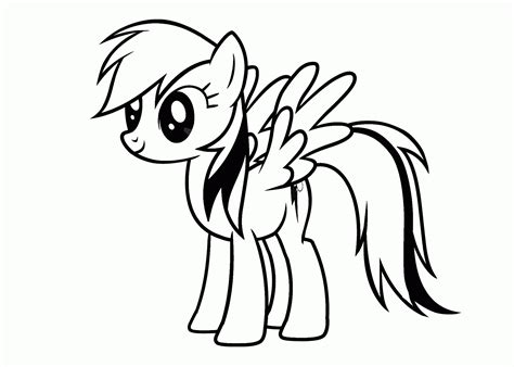 coloring pages my pony printable coloring pages my pony rainbow dash printable