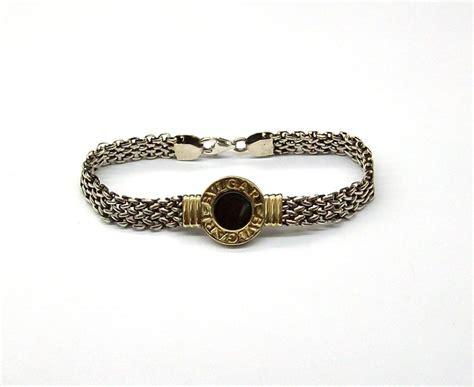 cadenas bvlgari para mujer pulsera de plata y oro 18 k con centro bulgari con fleje