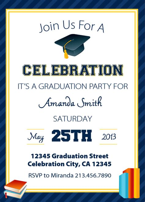 2016 printable graduation party invitations calendar