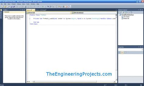 tutorial visual basic studio 2010 how to use serial port in vb 2010 the engineering projects