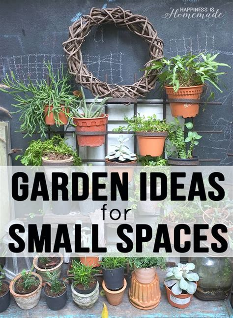 20 garden ideas for small spaces happiness is