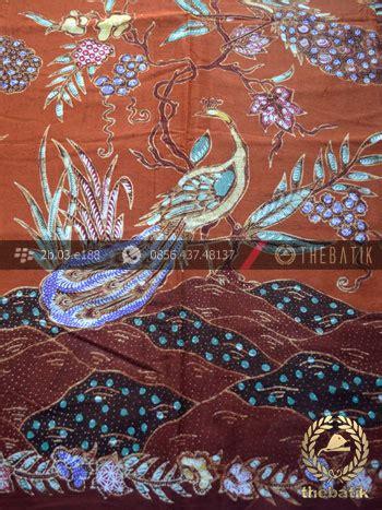 Kemeja Batik Merak Sogan jual kain batik bahan baju motif remukan burung merak