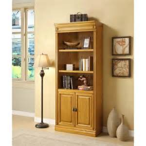 Wall Bookcases With Doors Cambria Wall Bookcase With Doors Walmart Com