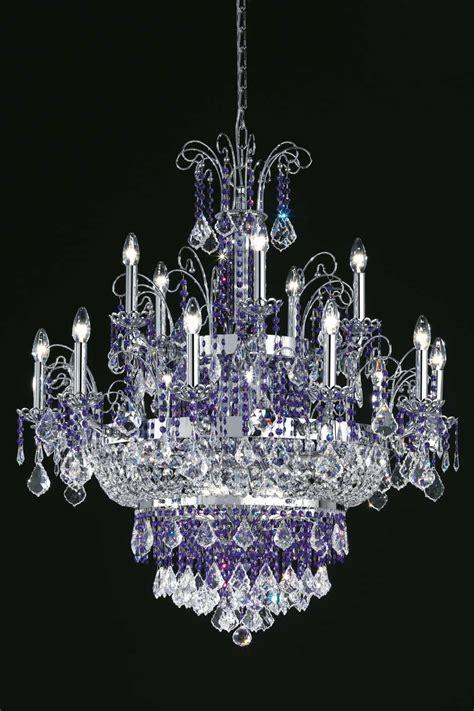 lustre en cristal grand lustre en cristal transparent et inox poli 15
