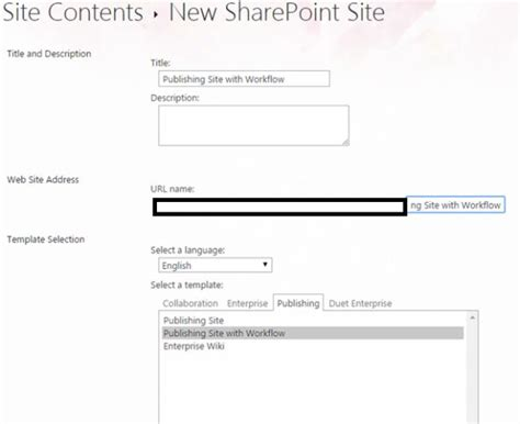 site templates part 12 publishing site with workflow in