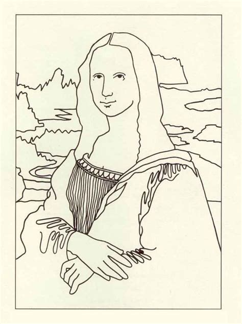 how to draw mona lisa