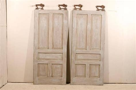 Pocket Doors For Sale by Pair Of American Painted Wood Pocket Doors For Sale At 1stdibs