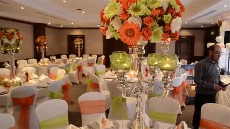 orange green wedding wedding flair