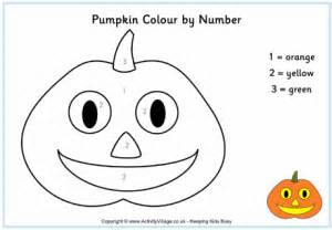 Pumpkin Colour By Number Color By Number Pumpkin