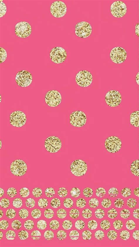 wallpaper pink and gold pink and glitter polka dots cute wallpapers pinterest