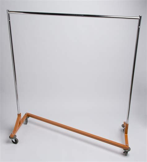 z rack with a heavy duty orange base a b store fixtures