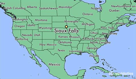 dakota on us map where is sioux falls sd where is sioux falls sd