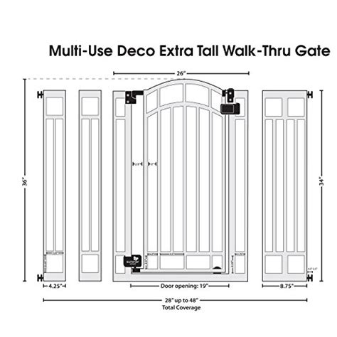 Multi Gate summer infant multi use deco walk thru gate