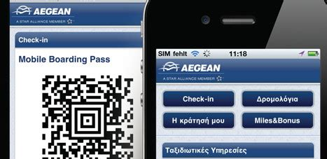 aegean check in mobile aegean s mobile boarding pass now on passbook gtp headlines
