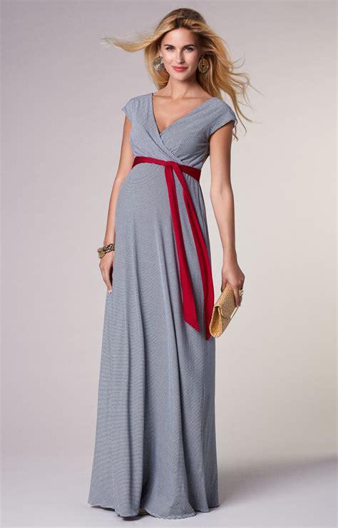 Navy Stripe Jersey Maxi Dress
