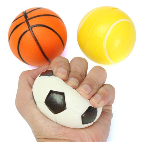 soft foam ball wrist exercise stress relief squeeze tennis