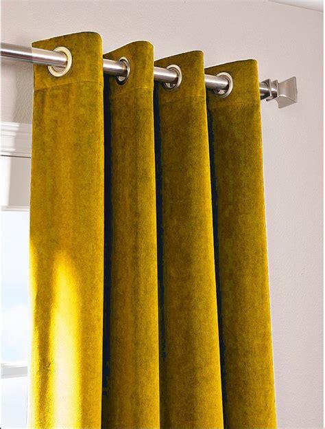 curtains 100 long gold vintage blackout 100 cotton velvet lined curtain