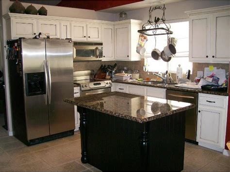 White Kitchen Black Island Kitchen White Cabinets Black Island Interior Exterior