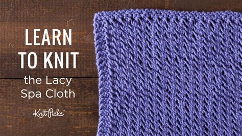 learn knitting knitted dishcloth tutorials