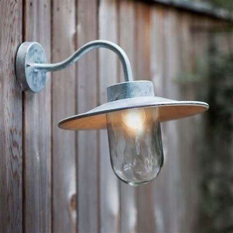 Swan Neck Outdoor Lighting Galvanised Outside Lights