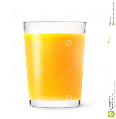 background juice full glass of orange juice on white background stock photo