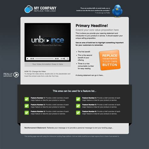 Landing Page Templates Cyberuse Landing Page Template